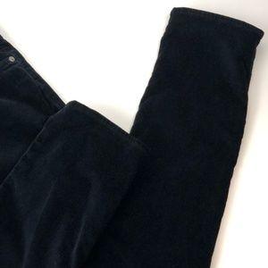 Ag Adriano Goldschmied Jeans - AG The Stilt Cigarette Black Velvet Cord Jean 31R